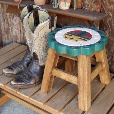 画像3: 可愛いサンフェイスのスツール(椅子)