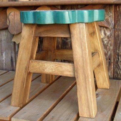 画像2: 可愛いサンフェイスのスツール(椅子)