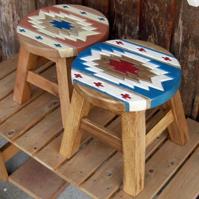 画像3: 人気のチマヨ柄のスツール(椅子)