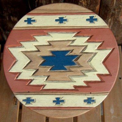 画像1: 人気のチマヨ柄のスツール(椅子)