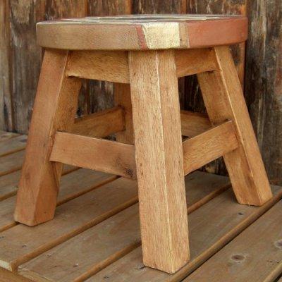 画像2: 人気のチマヨ柄のスツール(椅子)