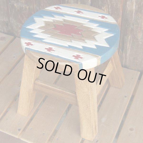 画像1: 人気のチマヨ柄のスツール(椅子) (1)