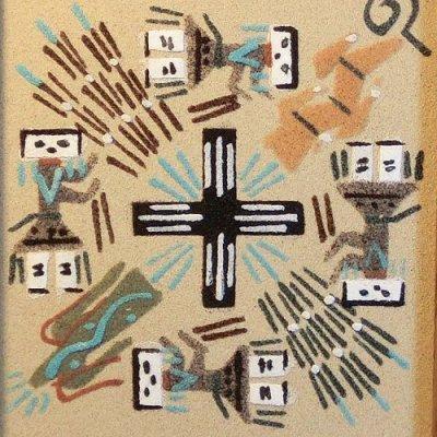 画像2: ナバホ族:サンドペイント(Sand Paint)