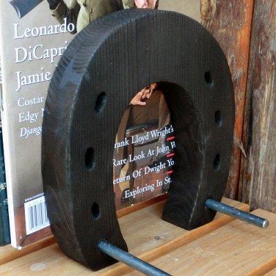 画像1: ホースシュー 『木製ブックスタンド』