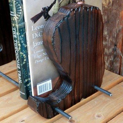画像1: ブーツ 『木製ブックスタンド』