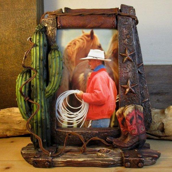 画像1: 樹脂製 『ウエスタン写真立て(Photp Frame)』 (1)