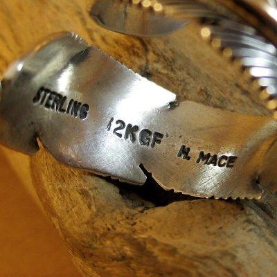 画像2: ナバホ族:Harvey Mace イーグルフェザー12KGF フリーサイズリング
