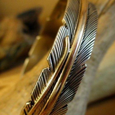 画像3: ナバホ族:Harvey Mace イーグルフェザー12KGF バングル