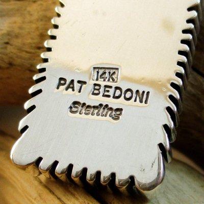 画像2: ナバホ族:Pat Bedonie #1フラットワイヤー 14K サンバースト ペンダントトップ