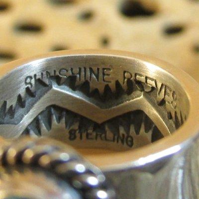 画像2: ナバホ族:Sunshine Reeves キングマンターコイズ リング 8号