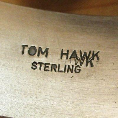 画像2: ナバホ族:TomHawk ストレート2ライン バングル