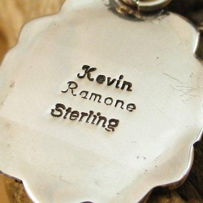画像2: ナバホ族:Kevin Ramone GoldenHill Turquoise ペンダント トップ