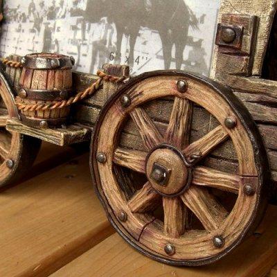 画像2: 幌馬車のデザインがシブイ 『写真立て』(Photo Frame)