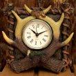 画像1: リアルな鹿角がカッコイイ 『置き時計』(Clock) (1)