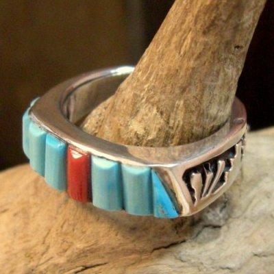画像3: ナバホ族:インレイリング 15号