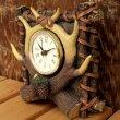 画像3: リアルな鹿角がカッコイイ 『置き時計』(Clock) (3)