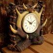 画像2: リアルな鹿角がカッコイイ 『置き時計』(Clock) (2)