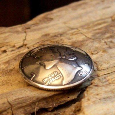 画像1: 10セント マーキュリー・ダイム コイン コンチョ