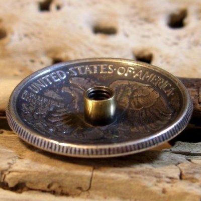 画像2: 50セント ウォーキングリバティー コイン コンチョ